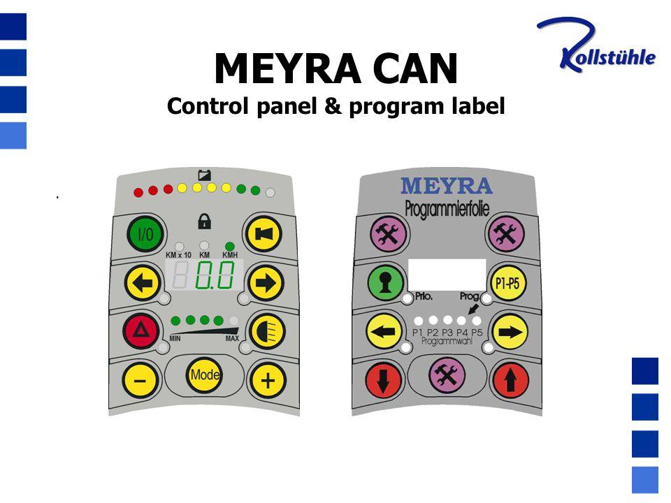 Control panel & program label