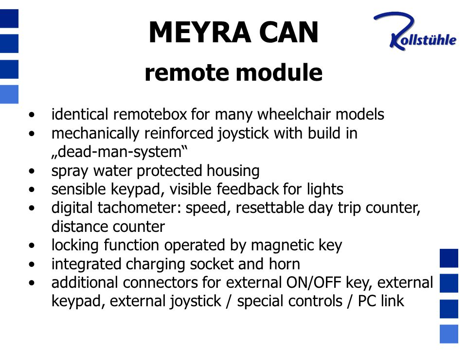 MEYRA CAN remote module identical remotebox for many wheelchair models