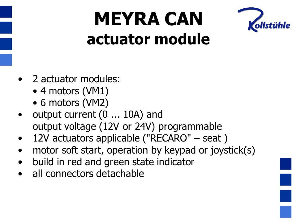 MEYRA CAN actuator module 2 actuator modules: 4 motors (VM1)