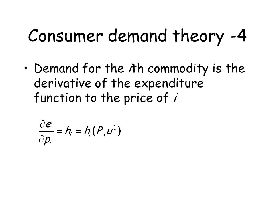 Consumer demand theory -4