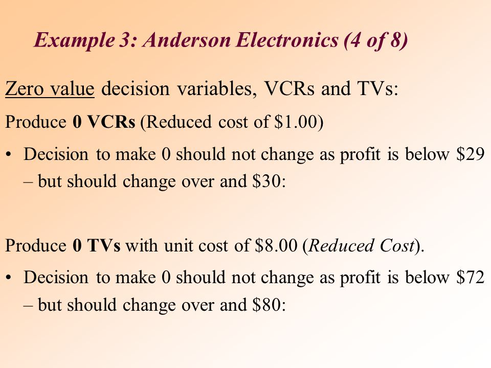 Example 3: Anderson Electronics (4 of 8)