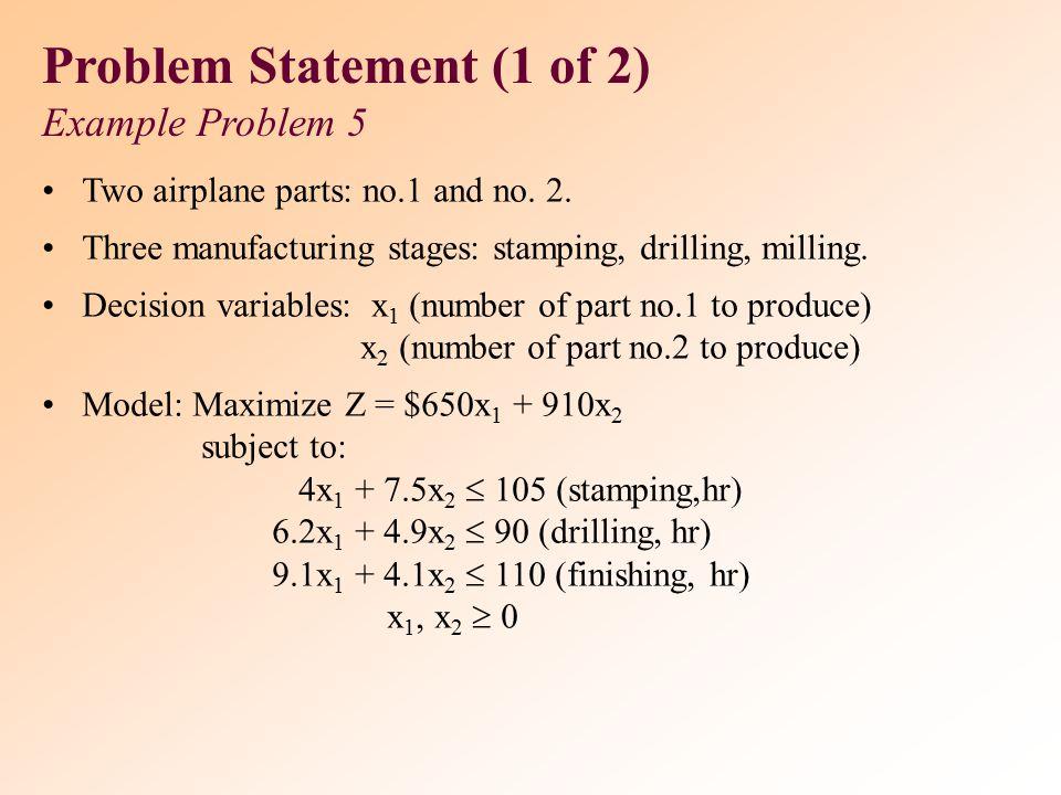 Problem Statement (1 of 2)