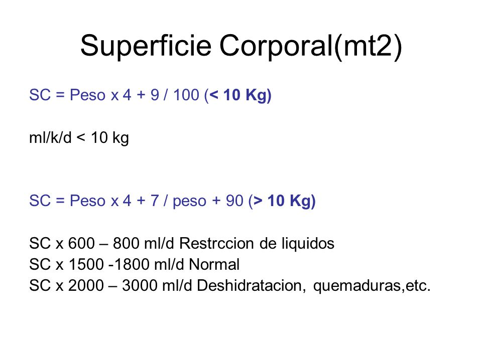 Superficie Corporal(mt2)