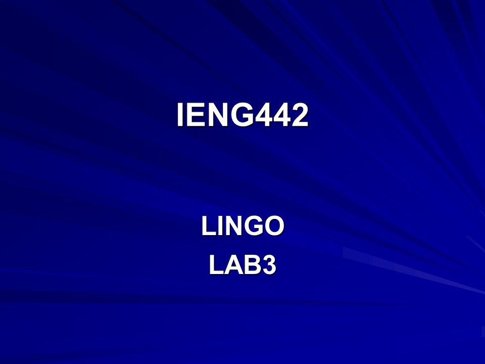IENG442 LINGO LAB3