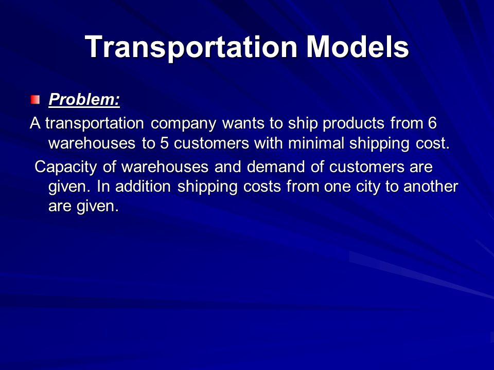 Transportation Models