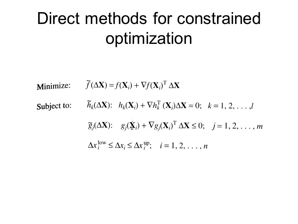 Direct methods for constrained optimization