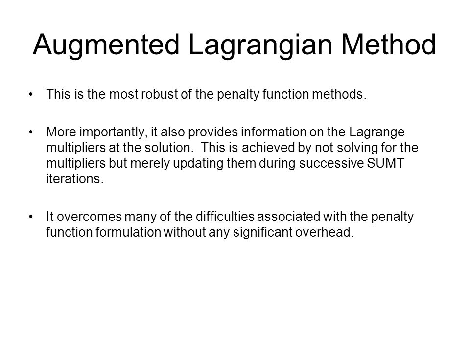 Augmented Lagrangian Method