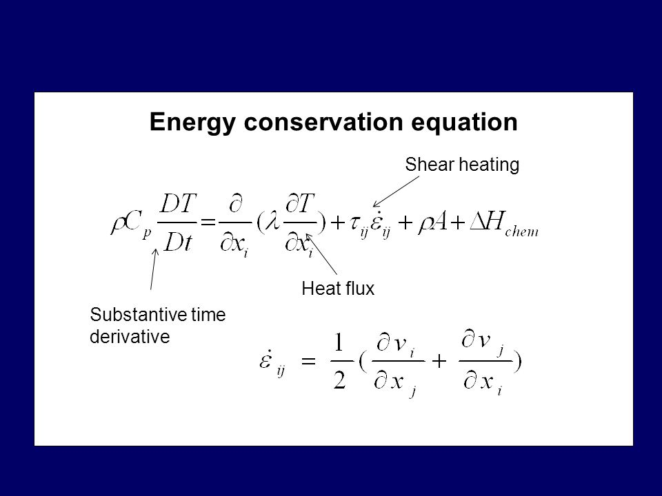 Energy conservation equation