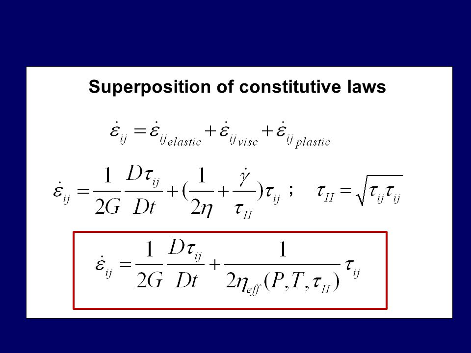 Superposition of constitutive laws