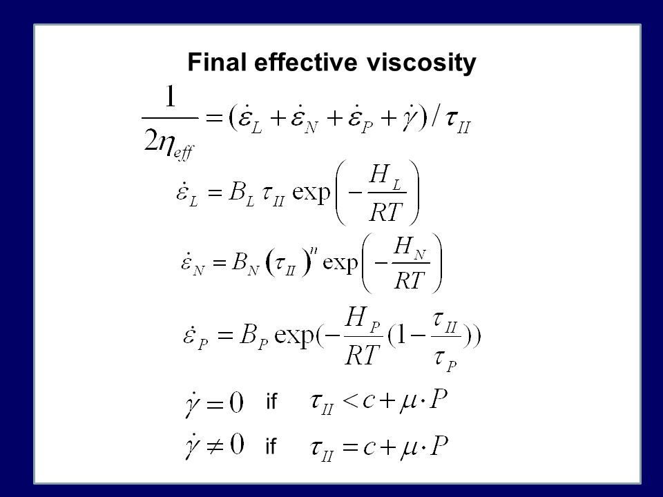 Final effective viscosity