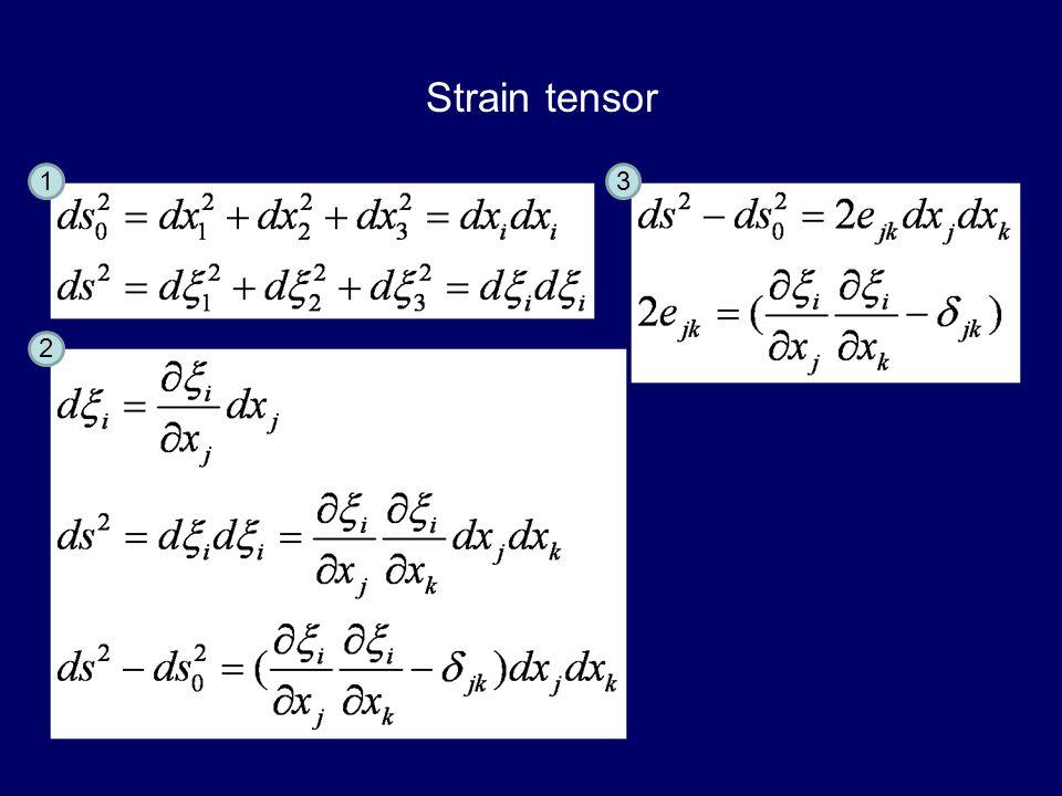 Strain tensor 1 3 2