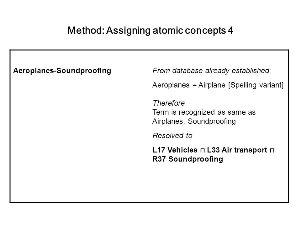Method: Assigning atomic concepts 4