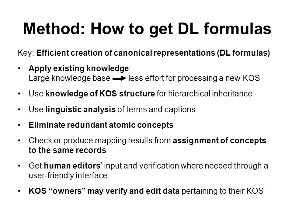 Method: How to get DL formulas