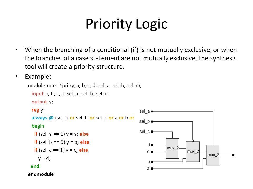 Priority Logic