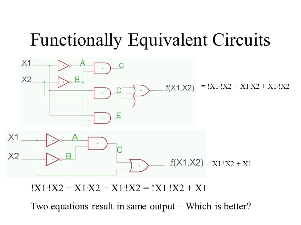 Functionally Equivalent Circuits