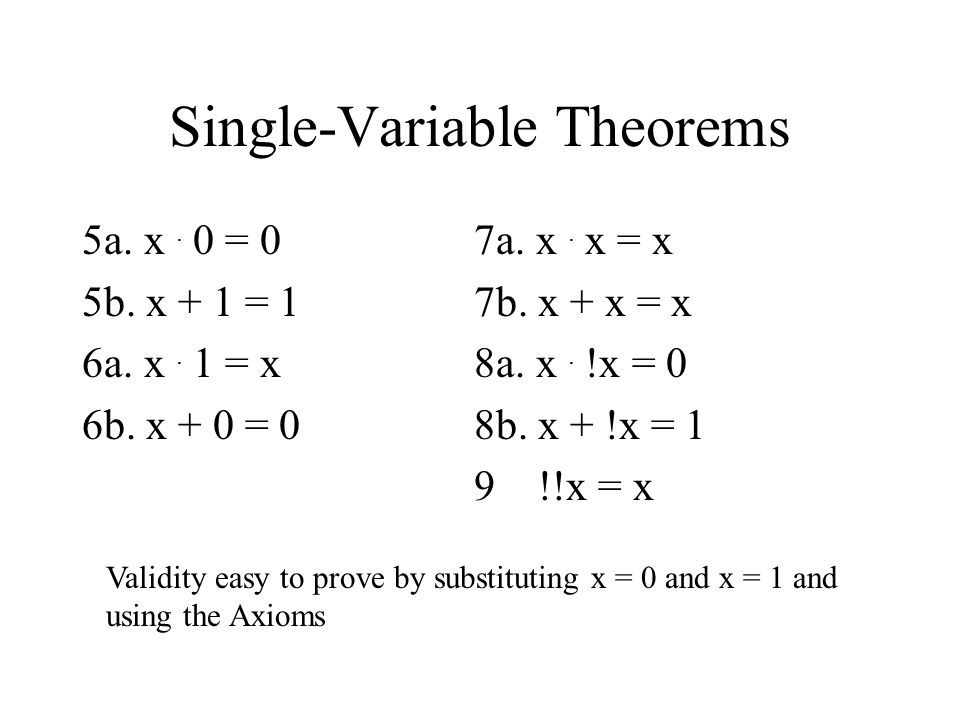 Single-Variable Theorems