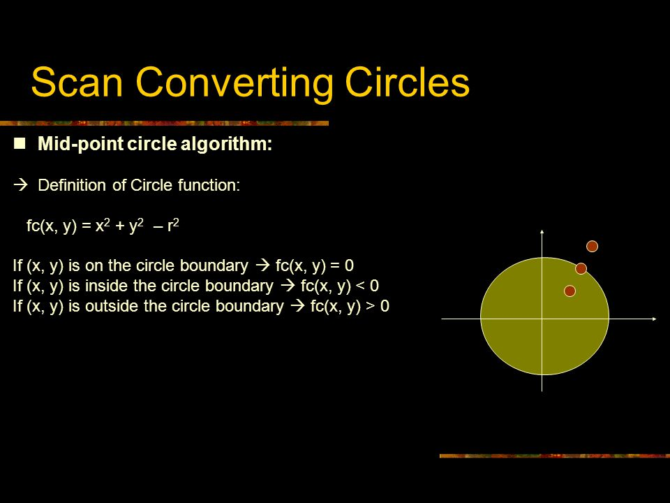Scan Converting Circles