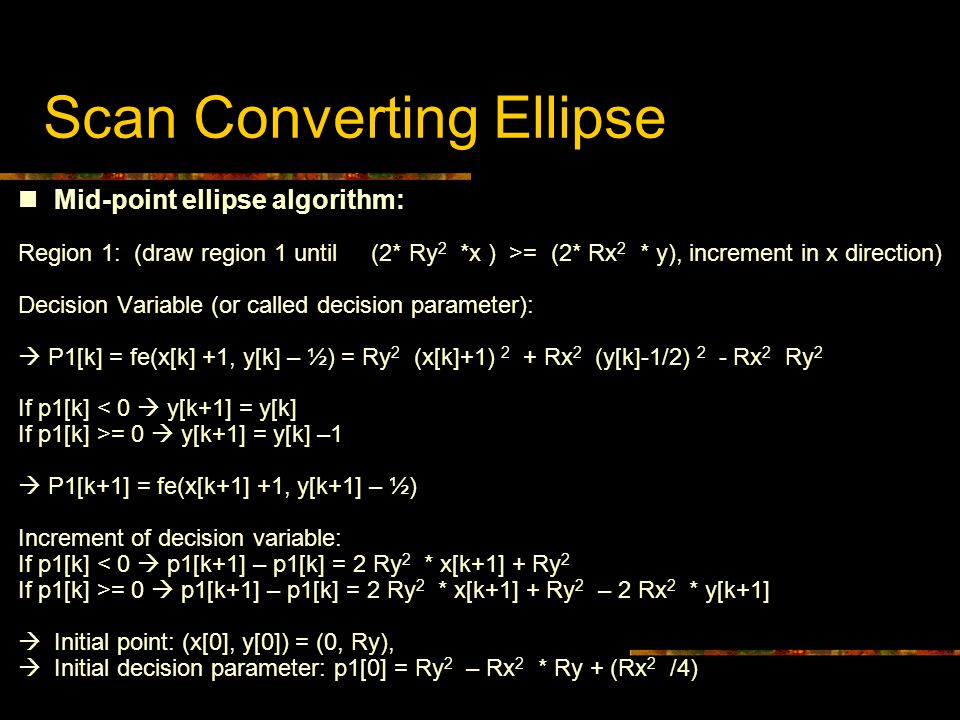 Scan Converting Ellipse