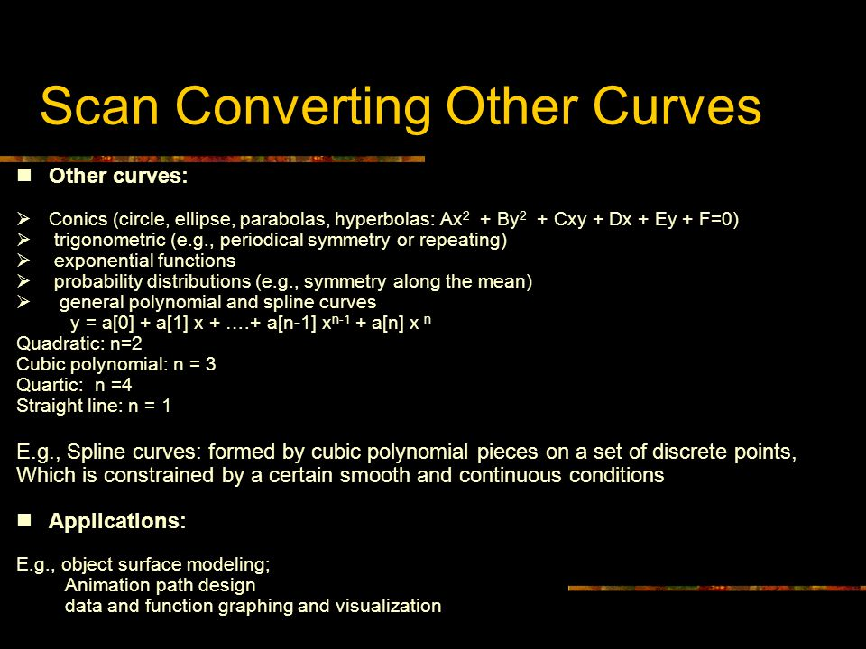 Scan Converting Other Curves