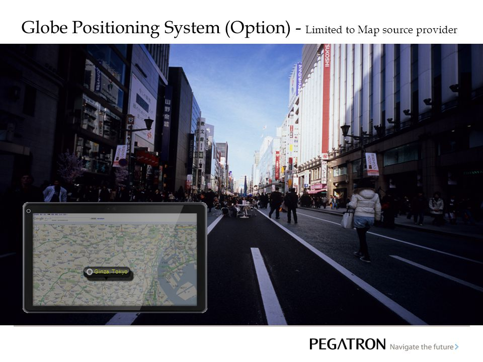 Globe Positioning System (Option) - Limited to Map source provider