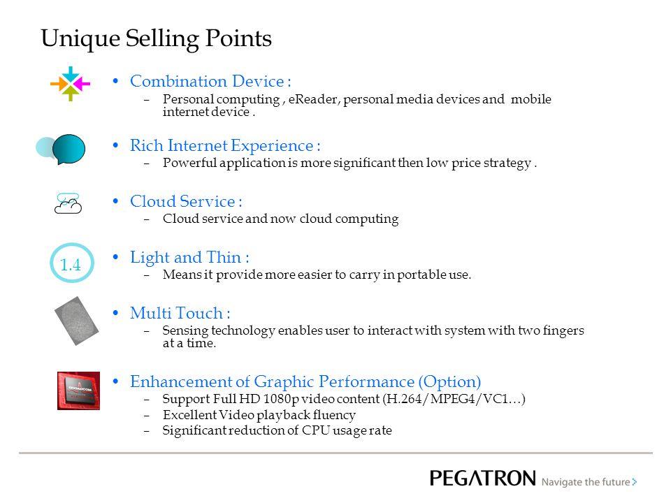 Unique Selling Points ☁ Combination Device :