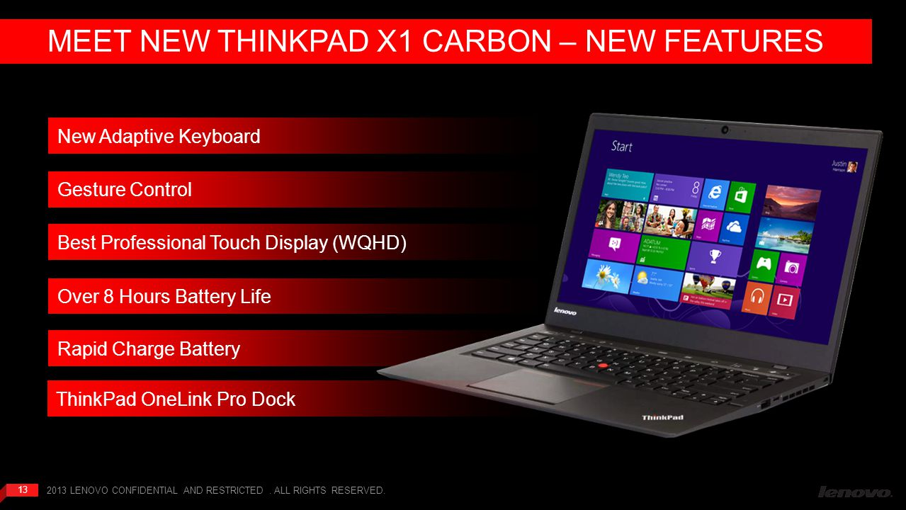 MEET NEW THINKPAD X1 CARBON – NEW FEATURES