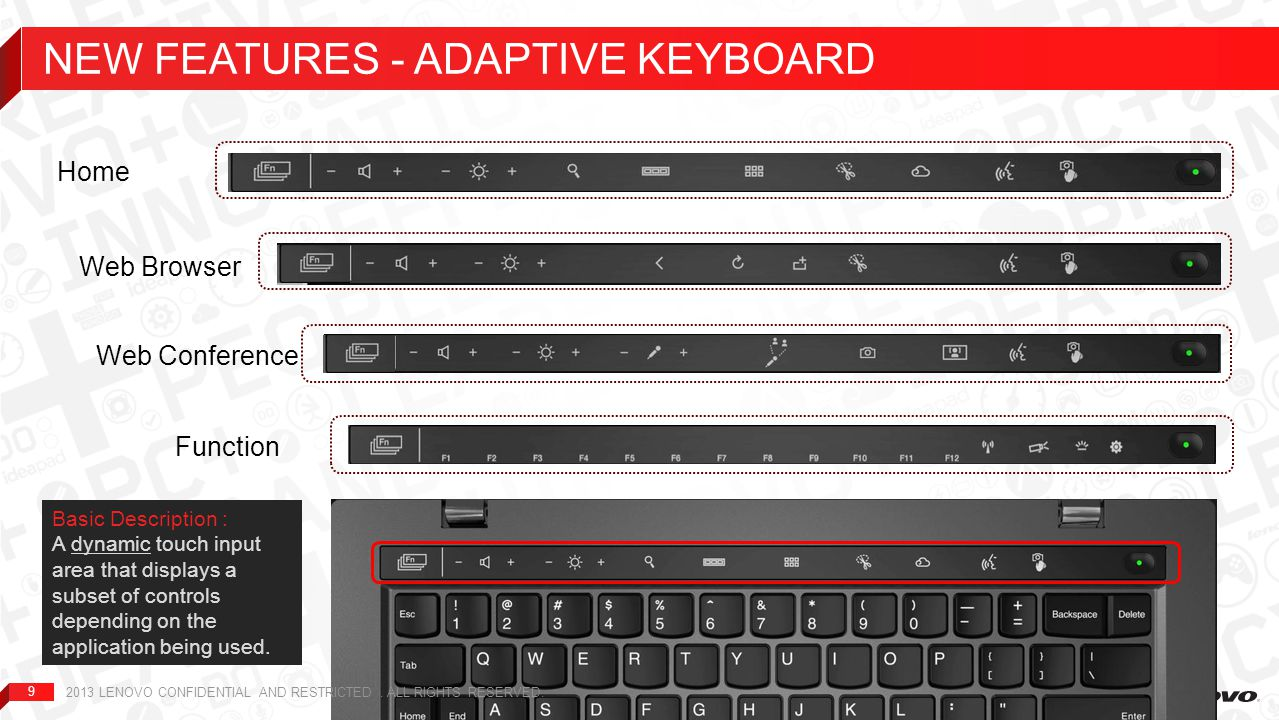 NEW FEATURES - adaptive keyboard