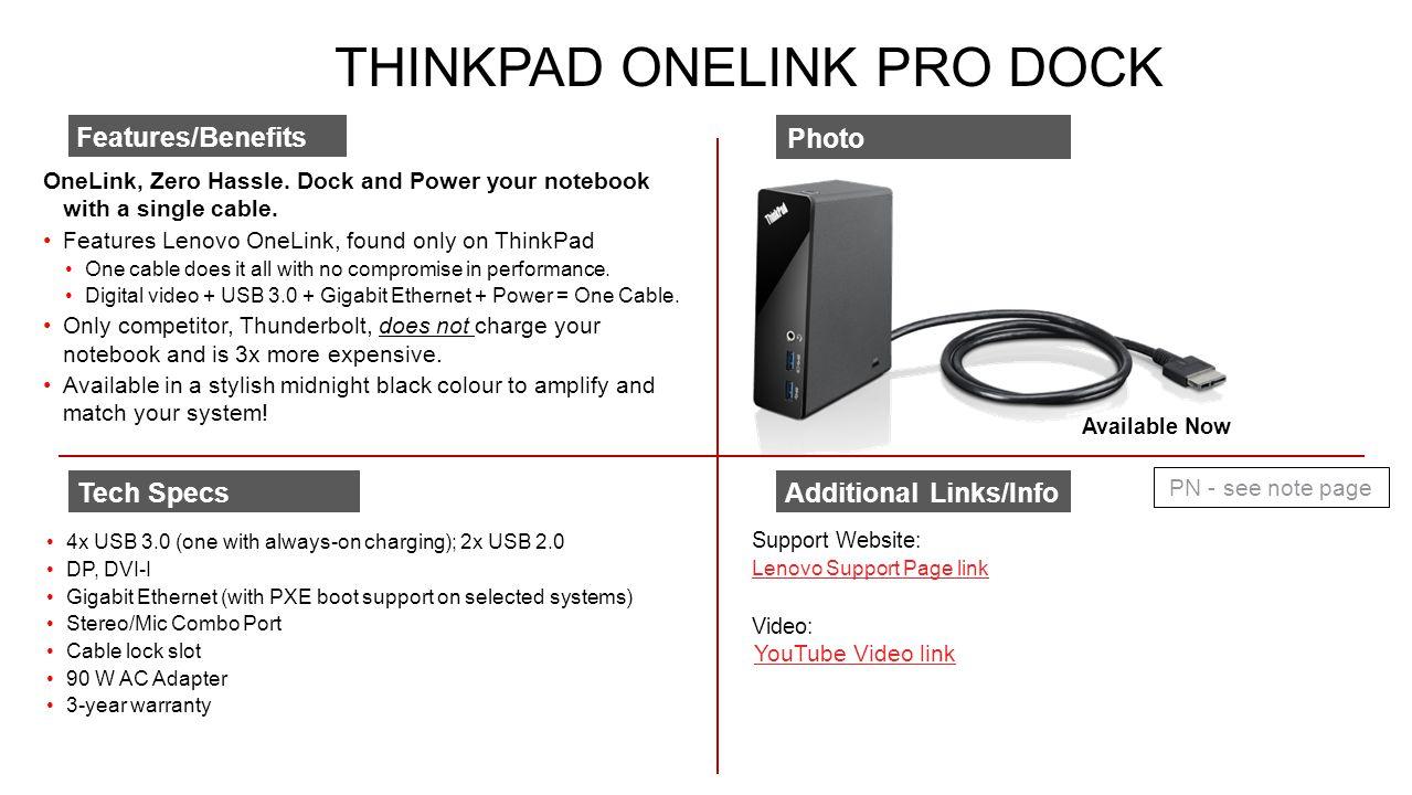 ThinkPad OneLink Pro Dock