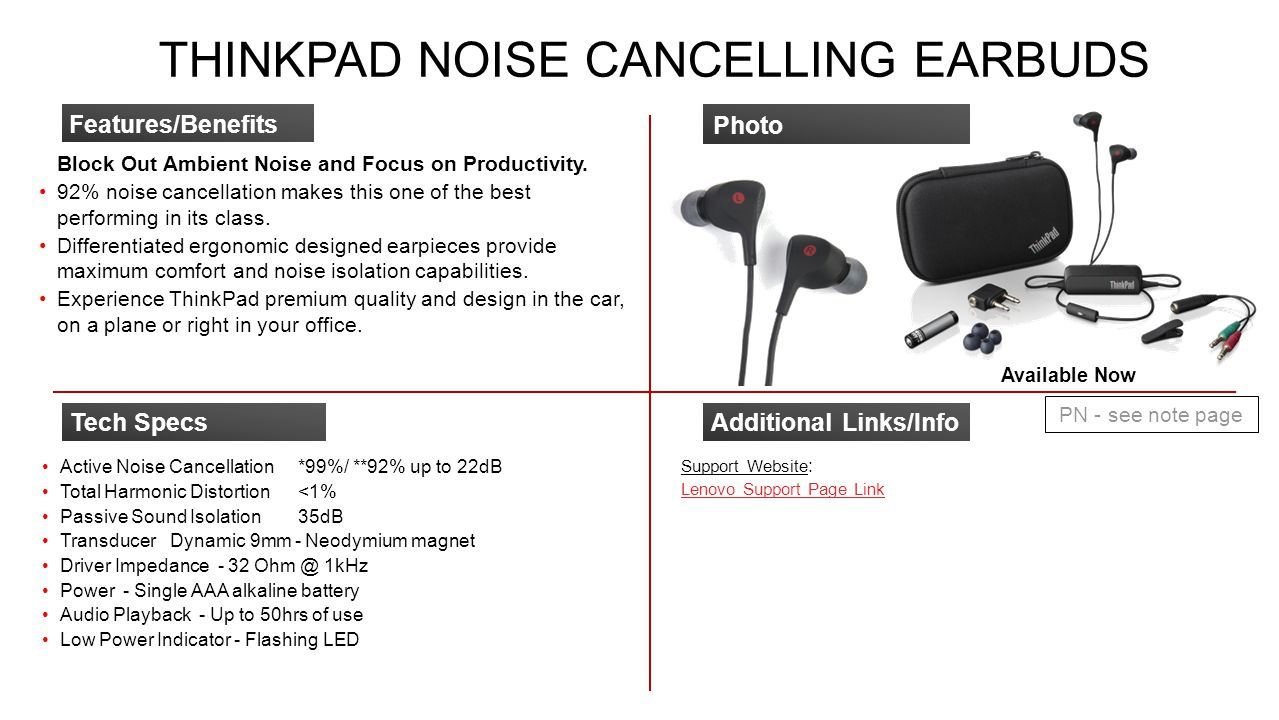 ThinkPad Noise Cancelling Earbuds