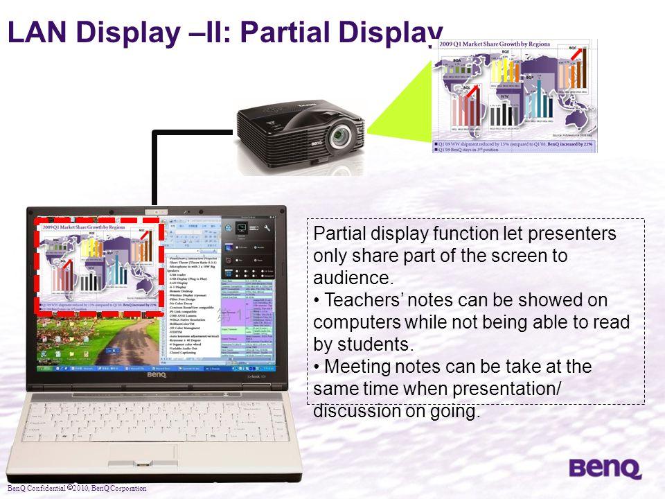 LAN Display –II: Partial Display