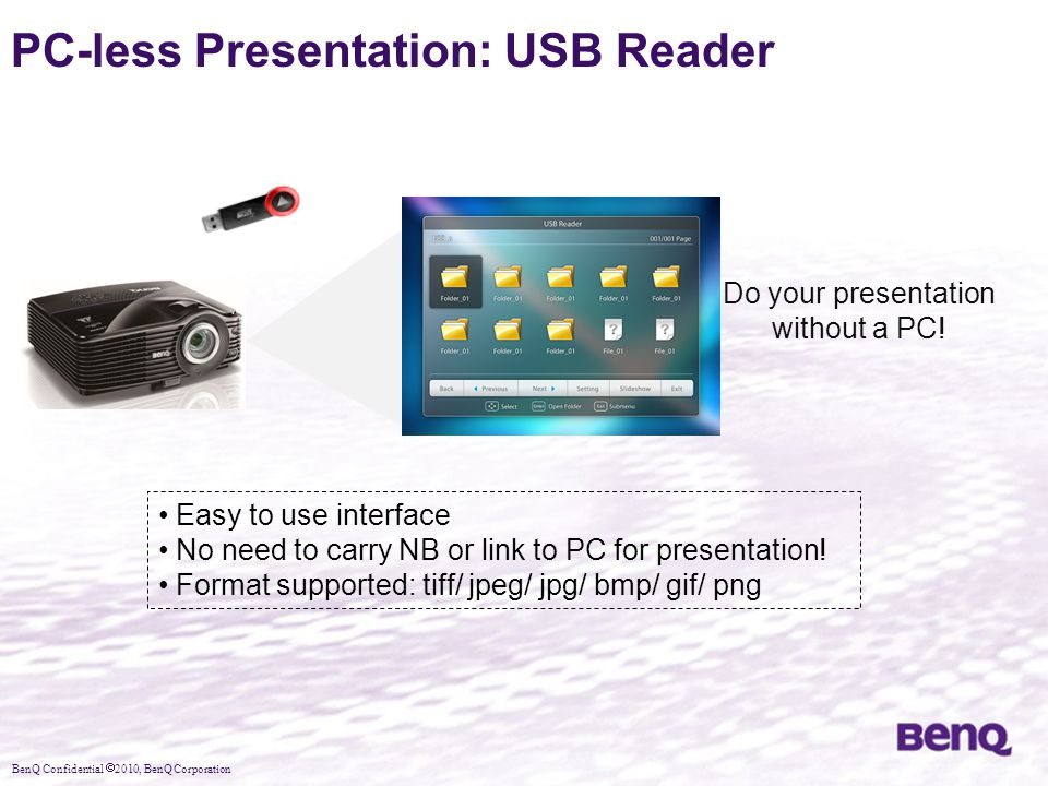 PC-less Presentation: USB Reader