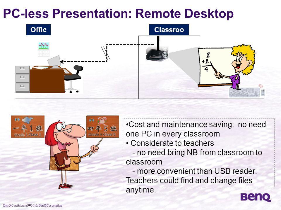 PC-less Presentation: Remote Desktop