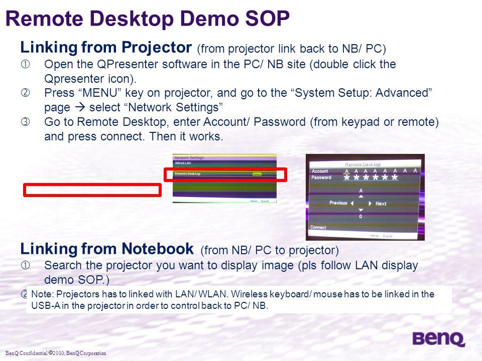 Remote Desktop Demo SOP