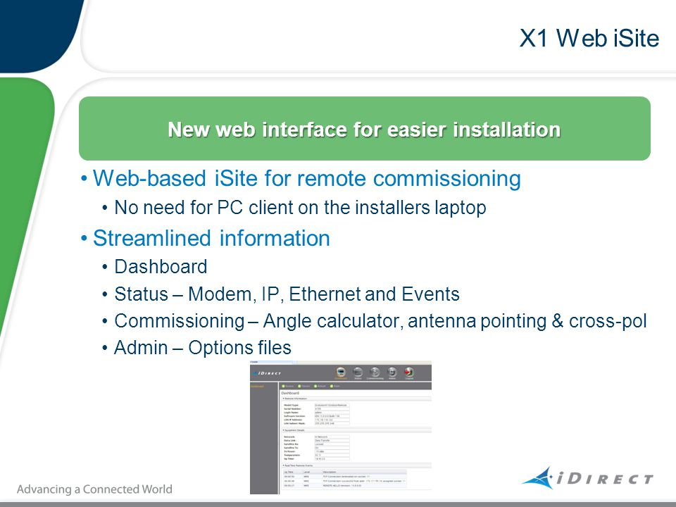 New web interface for easier installation
