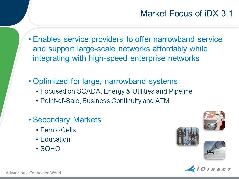 Market Focus of iDX 3.1