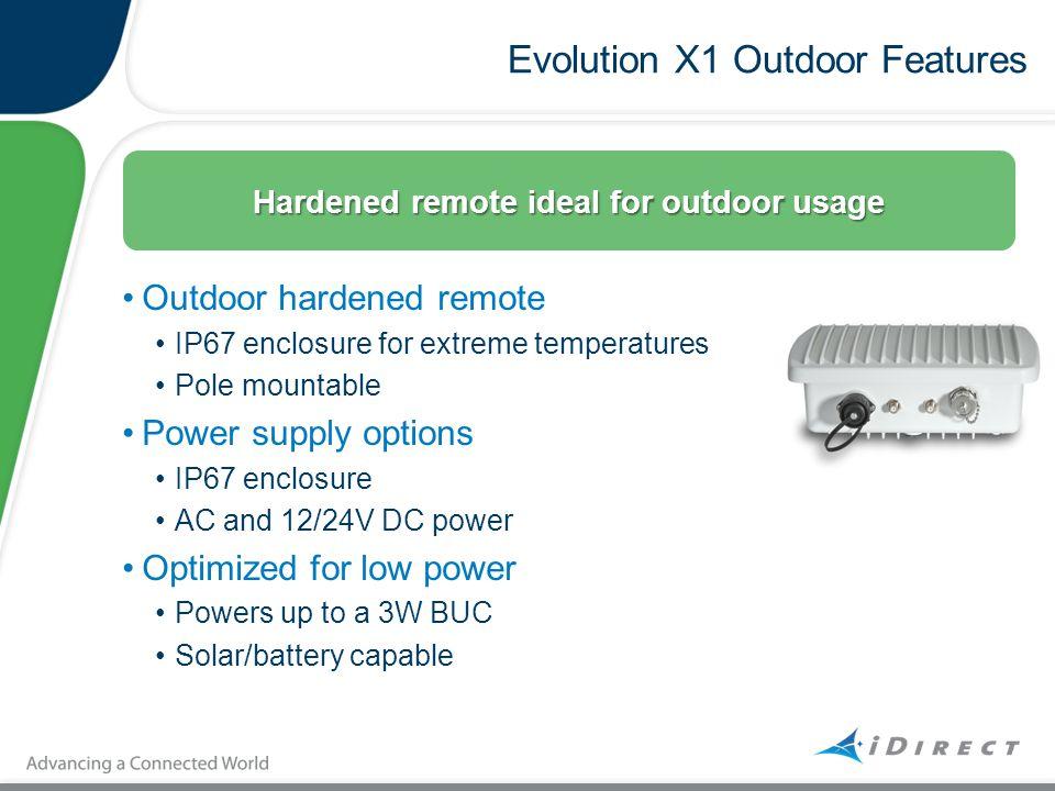 Evolution X1 Outdoor Features