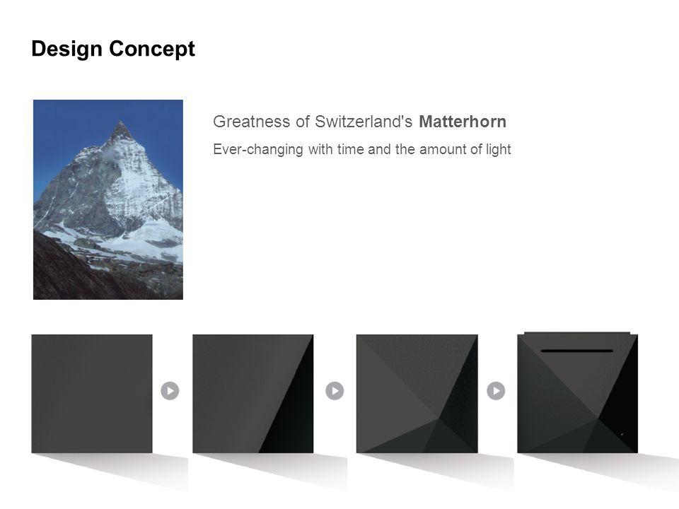 Design Concept Greatness of Switzerland s Matterhorn