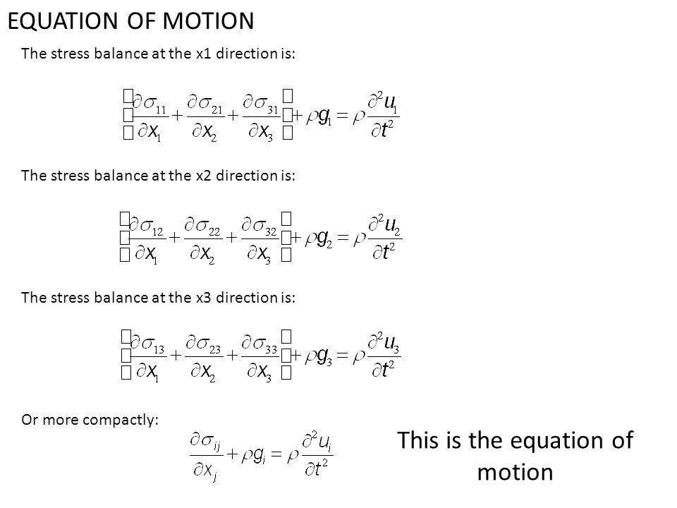 This is the equation of motion