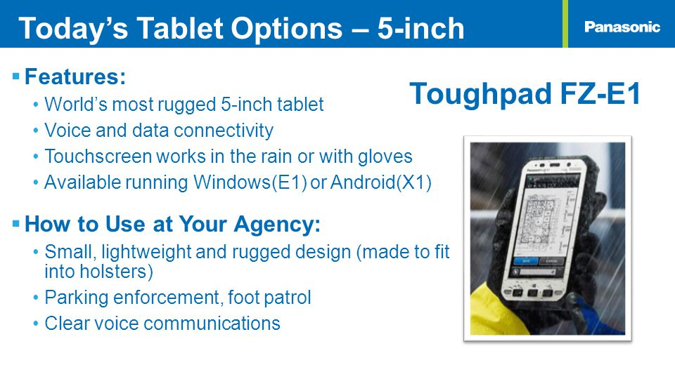 Today's Tablet Options – 5-inch