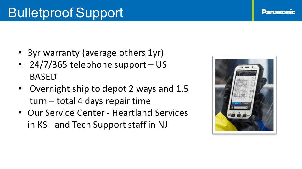 Bulletproof Support 3yr warranty (average others 1yr)