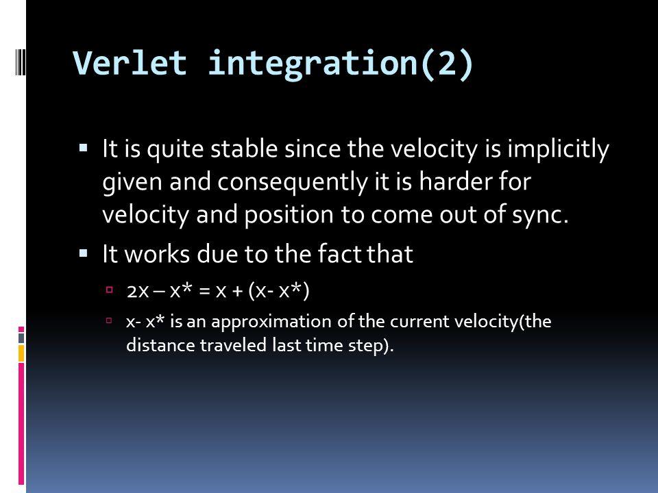 Verlet integration(2)