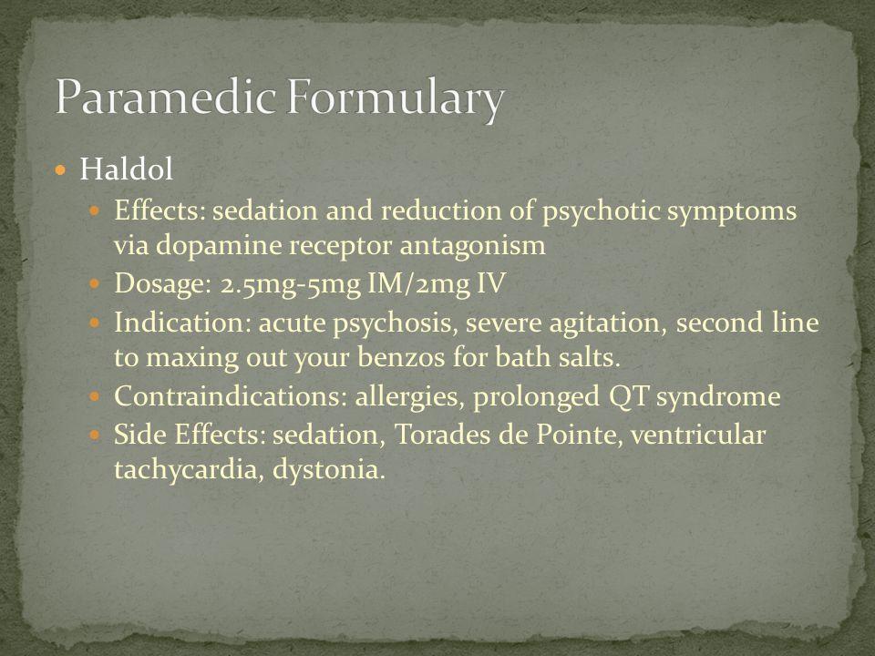Paramedic Formulary Haldol