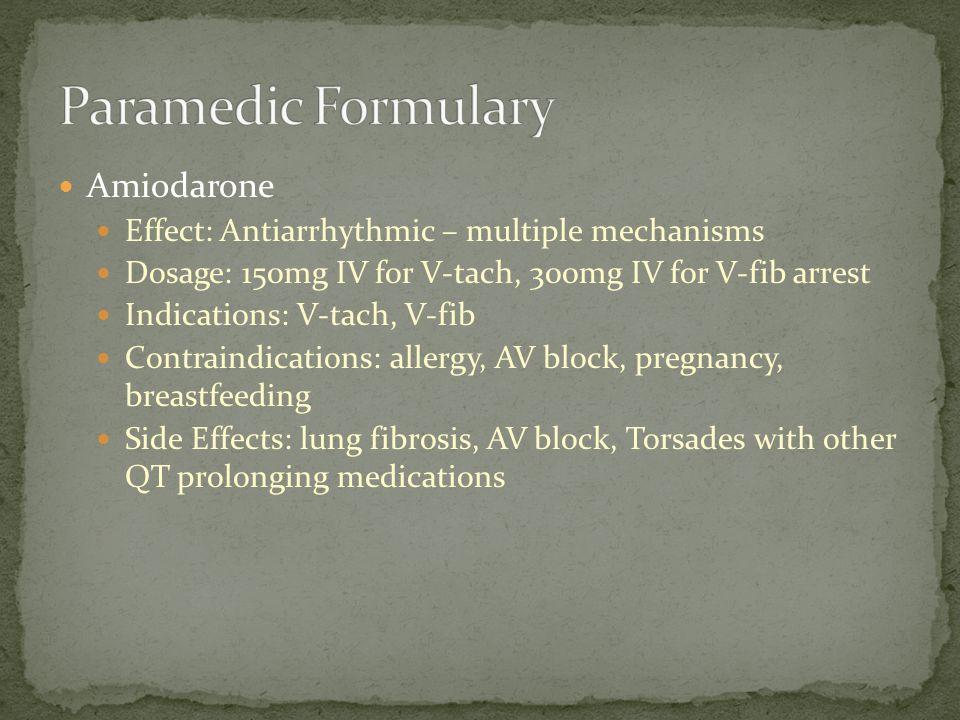 Paramedic Formulary Amiodarone