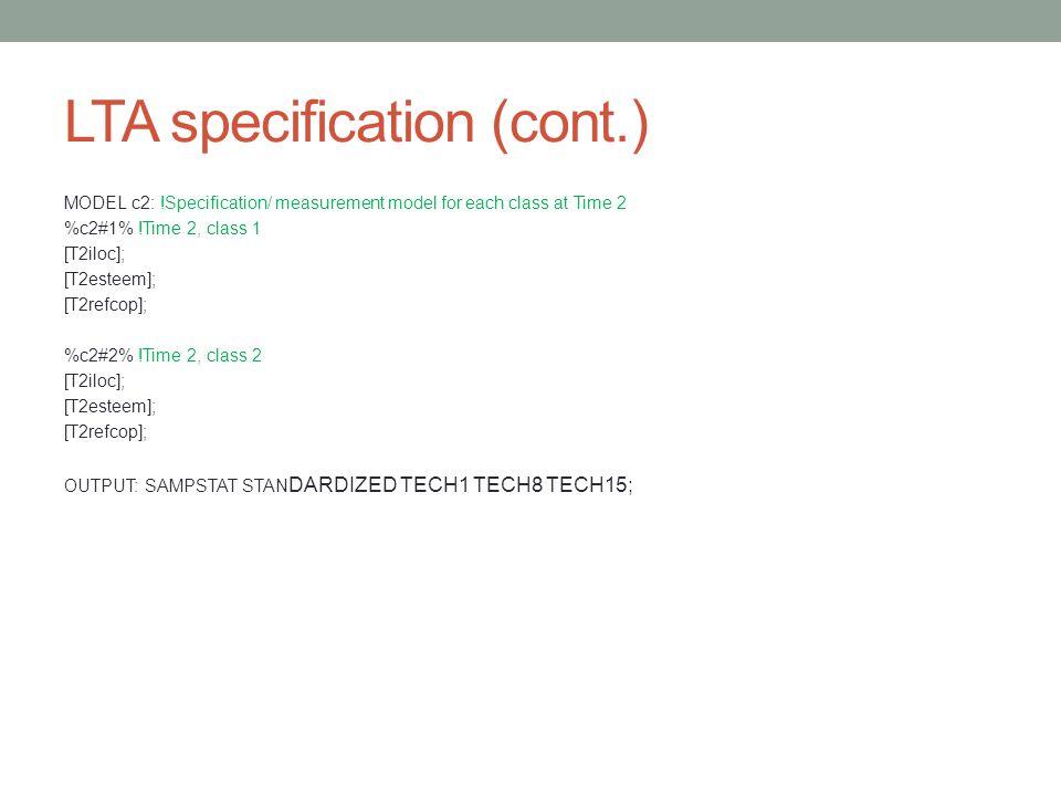 LTA specification (cont.)