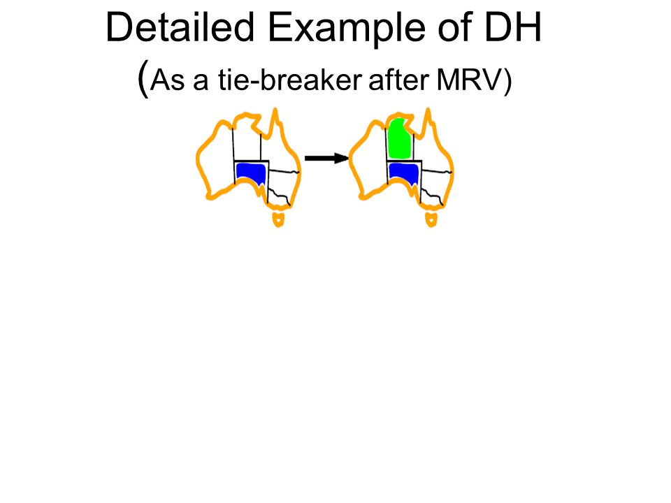 Detailed Example of DH (As a tie-breaker after MRV)