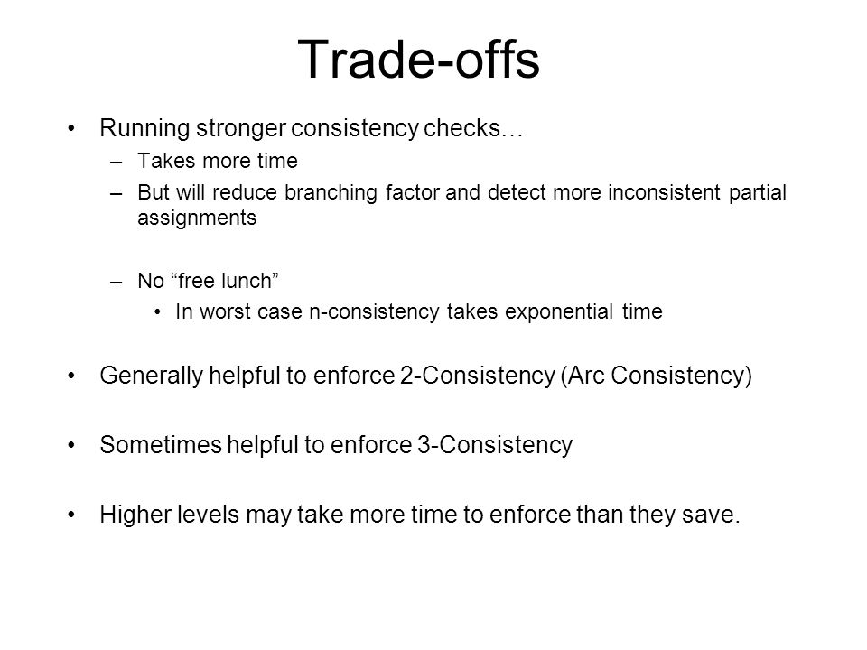 Trade-offs Running stronger consistency checks…