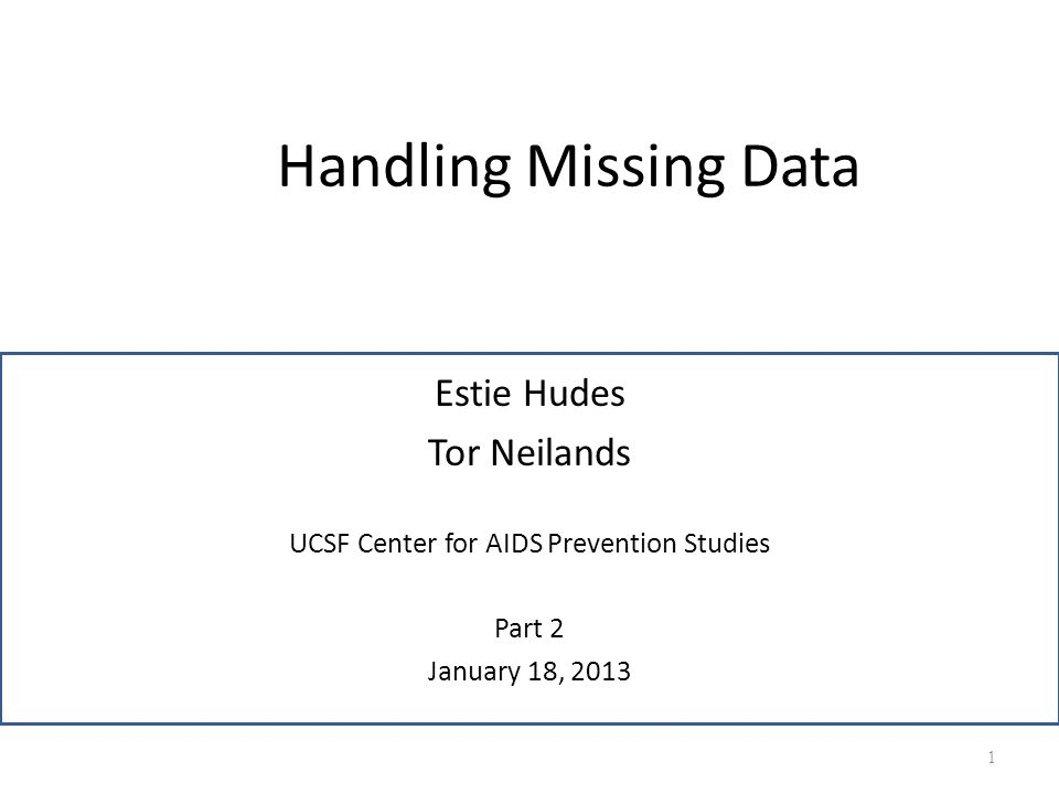 UCSF Center for AIDS Prevention Studies