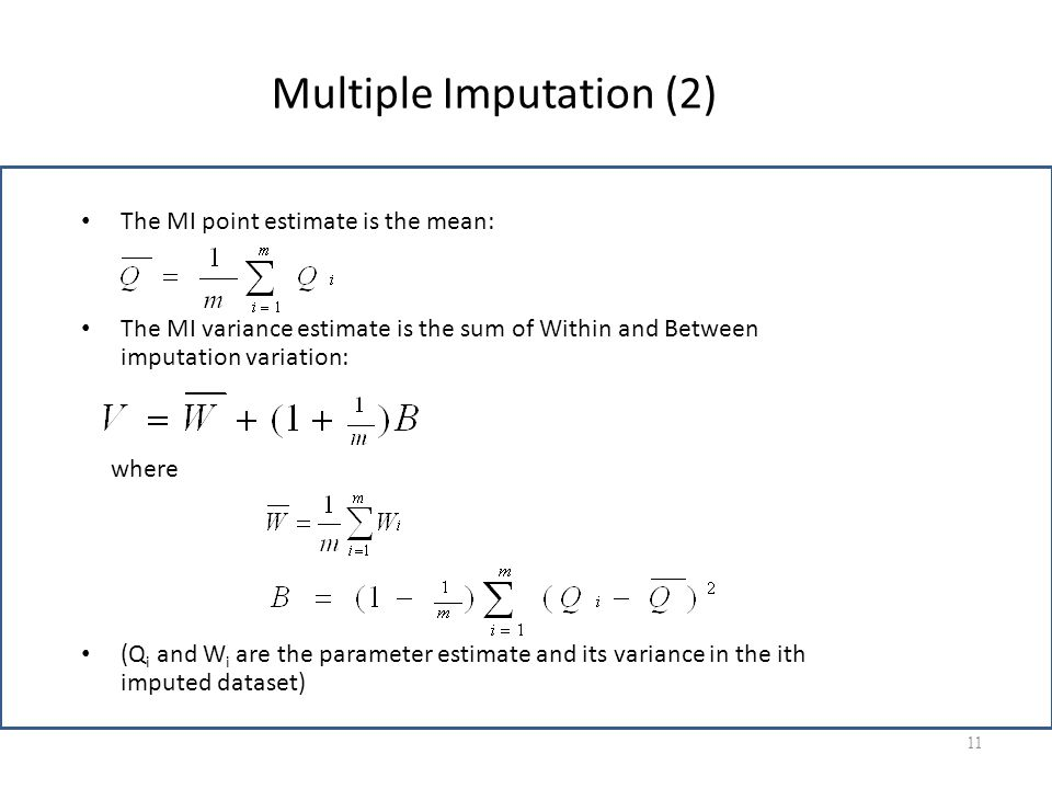 Multiple Imputation (2)