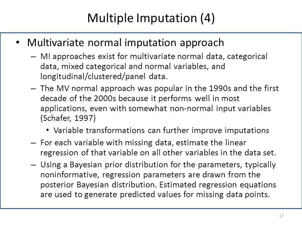 Multiple Imputation (4)