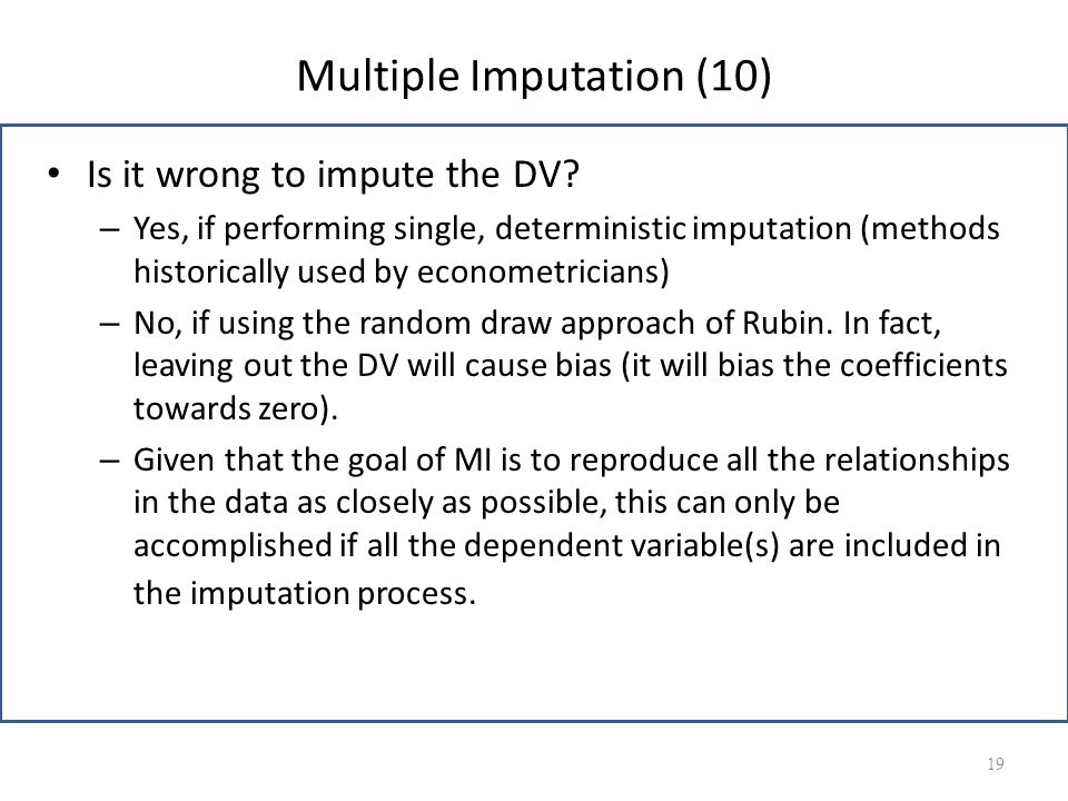 Multiple Imputation (10)